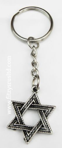10 PCS x Star of David Key Ring Jewish Magen Judaism Keyring Jew Hexagram